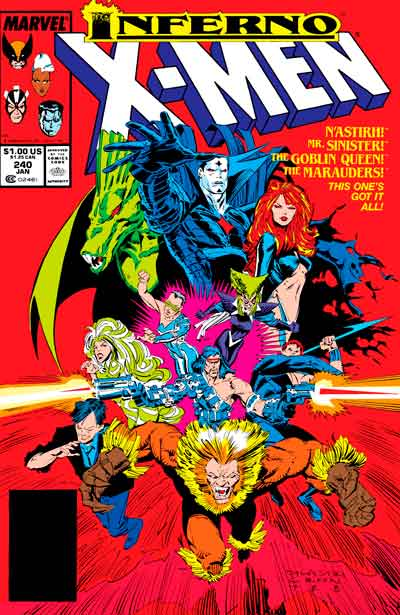 X-Men - Inferno, комиксы Люди-Икс, Люди-Икс Инферно, X-Men comics